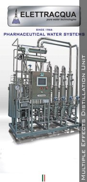 Multiple effects distillation unit